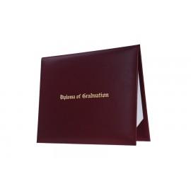 Maroon Imprinted Diploma Cover