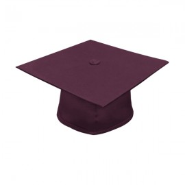 Matte Maroon High School Cap