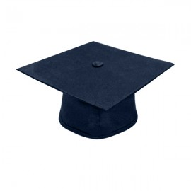 Matte Navy Blue High School Cap