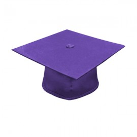 Matte Purple High School Cap