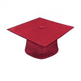 Matte Red Bachelor Academic Cap