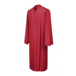 Matte Red High School Gown
