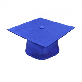 Matte Royal Blue High School Cap