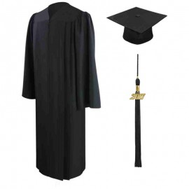 Eco-Friendly Black Middle School Cap, Gown & Tassel