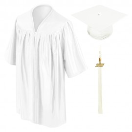 White Preschool Cap, Gown & Tassel