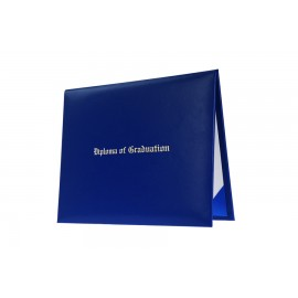 Royal Blue Imprinted Kindergarten Diploma Cover