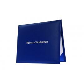 Royal Blue Imprinted Elementary Diploma Cover
