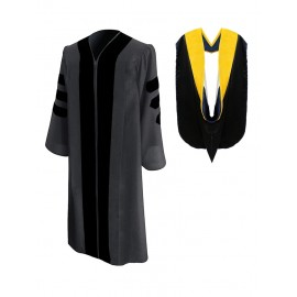 Classic Doctoral Graduation Gown & Hood Package