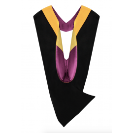 Deluxe Bachelor Academic Hood, Science Gold Velvet, Maroon & Gold
