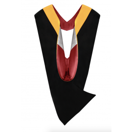 Deluxe Bachelor Academic Hood, Science Gold, Red & Silver