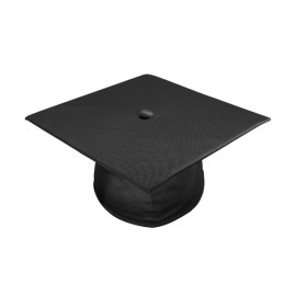 Shiny Black High School  Cap