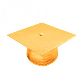 Shiny Antique Gold High School Cap