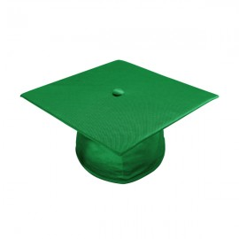 Shiny Green Bachelor Academic Cap