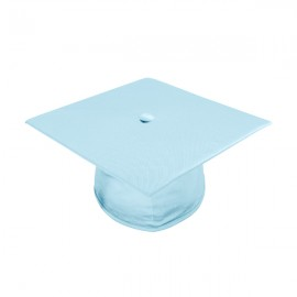 Shiny Light Blue Bachelor Academic Cap