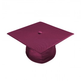 Shiny Maroon Bachelor Academic Cap