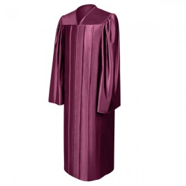 Shiny Maroon High School Gown