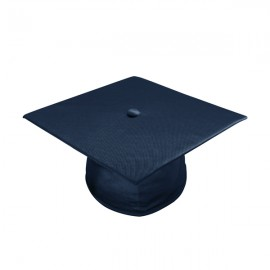 Shiny Navy Blue High School Cap