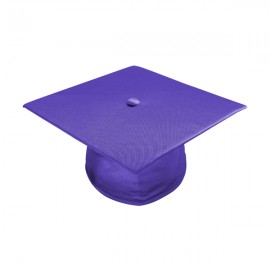 Shiny Purple High School Cap