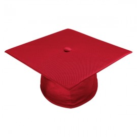 Shiny Red High School Cap