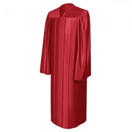 Shiny Red High School Gown