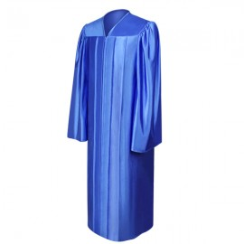 Shiny Royal Blue High School Gown