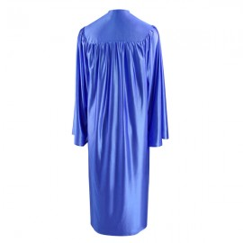Shiny Royal Blue Bachelor Academic Gown