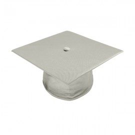 Shiny Silver Bachelor Academic Cap
