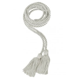 Silver College Honor Cord