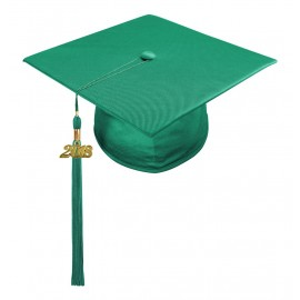 Emerald Green Preschool Cap & Tassel