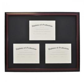 University Triple Document Diploma Frame