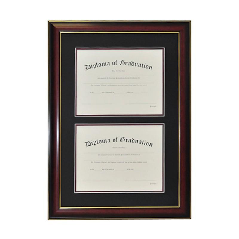 University Double Document Diploma Frame | Gradshop