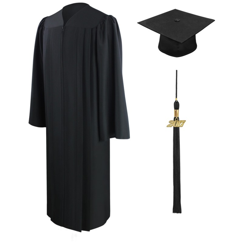 Eco-Friendly Black High School Cap, Gown & Tassel | Gradshop