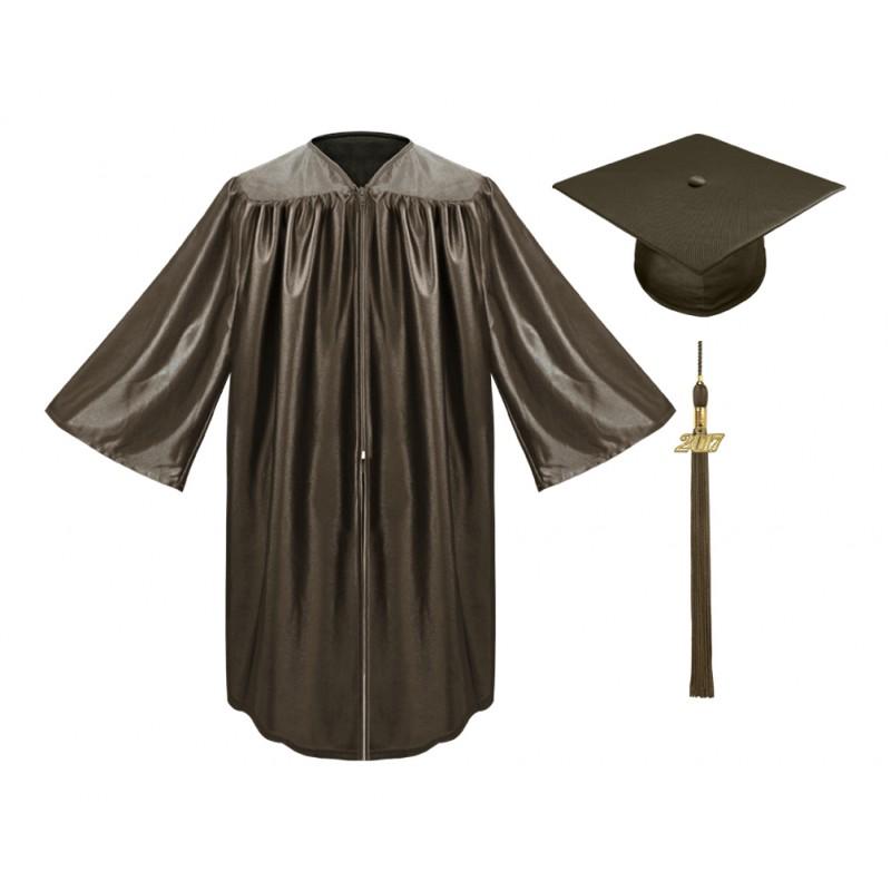 Brown Kindergarten Cap, Gown & Tassel | Gradshop