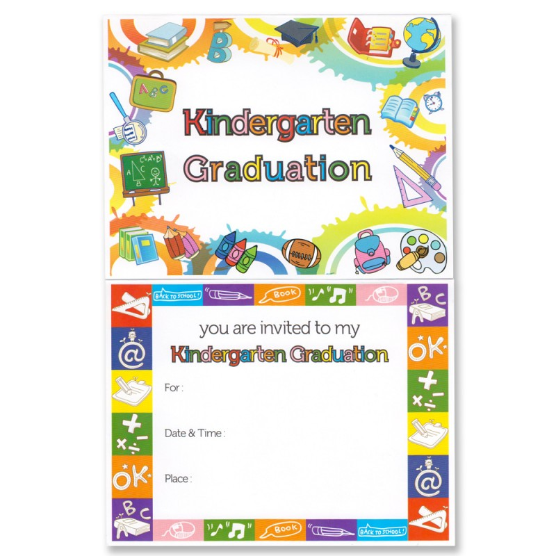 Kindergarten Graduation Announcement Gradshop