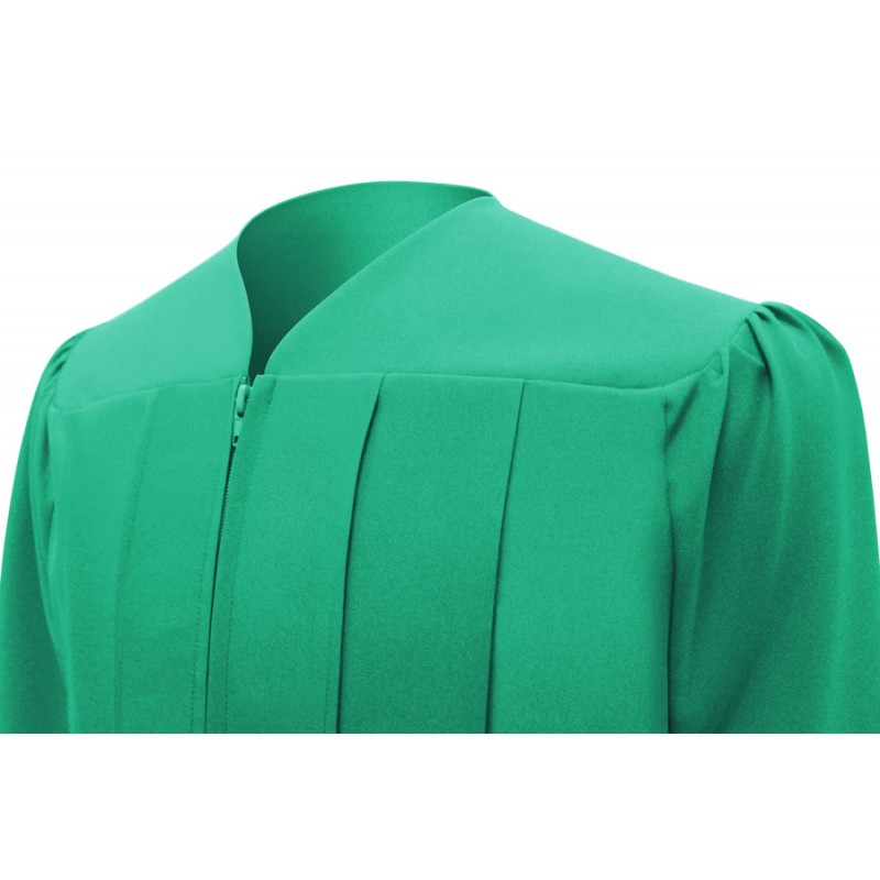 Matte Emerald Green Elementary Cap Gown Tassel Gradshop