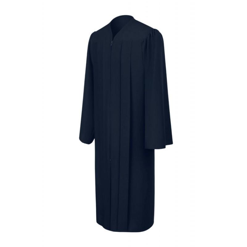 Matte Navy Blue Bachelor Academic Gown Gradshop