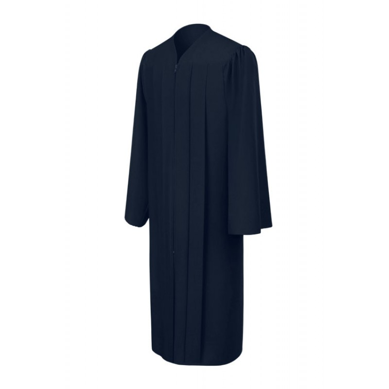 Matte Navy Blue High School Gown | Gradshop
