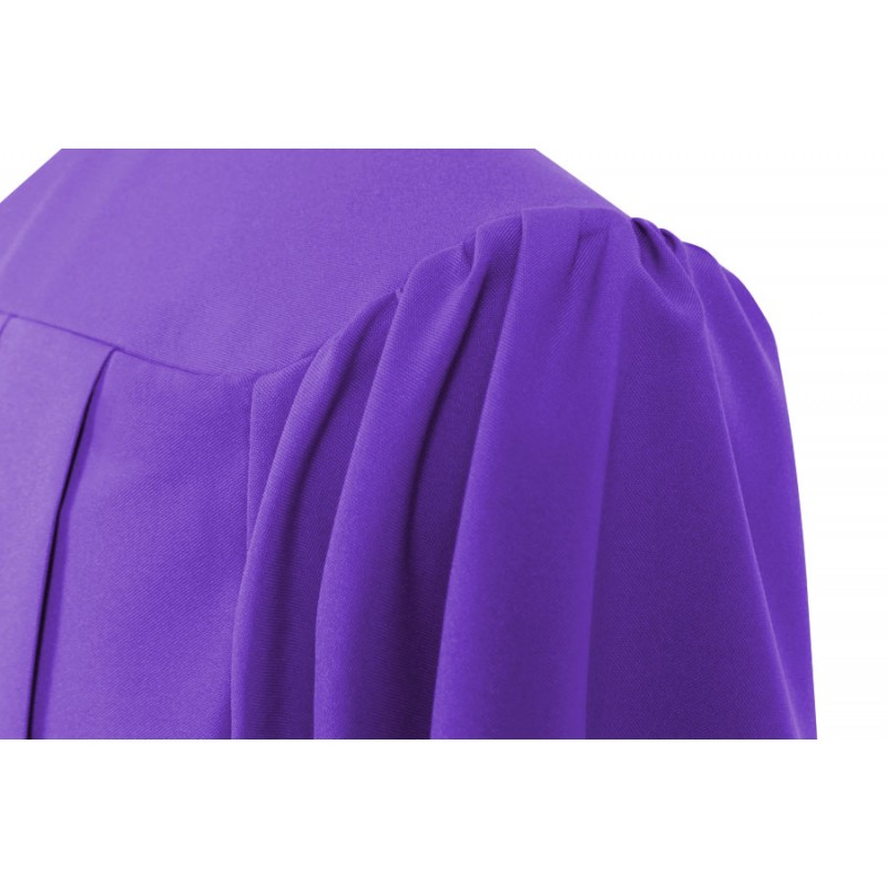 Matte Purple High School Gown | Gradshop