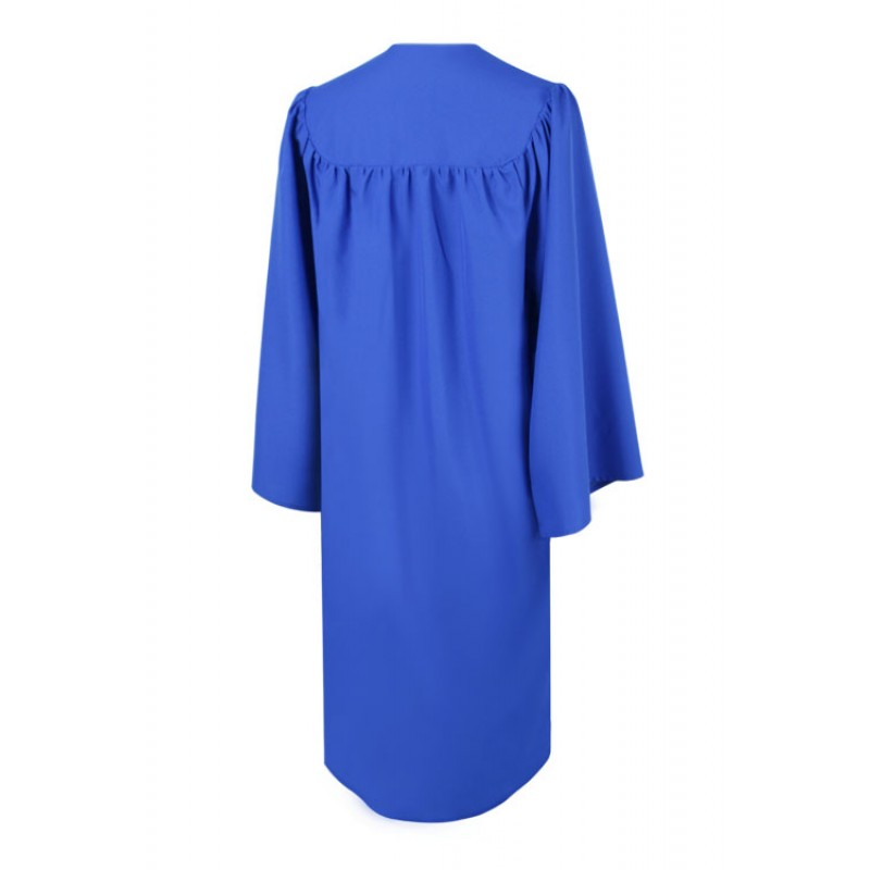 Matte Royal Blue High School Gown | Gradshop