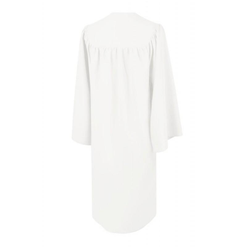 Matte White High School Gown | Gradshop