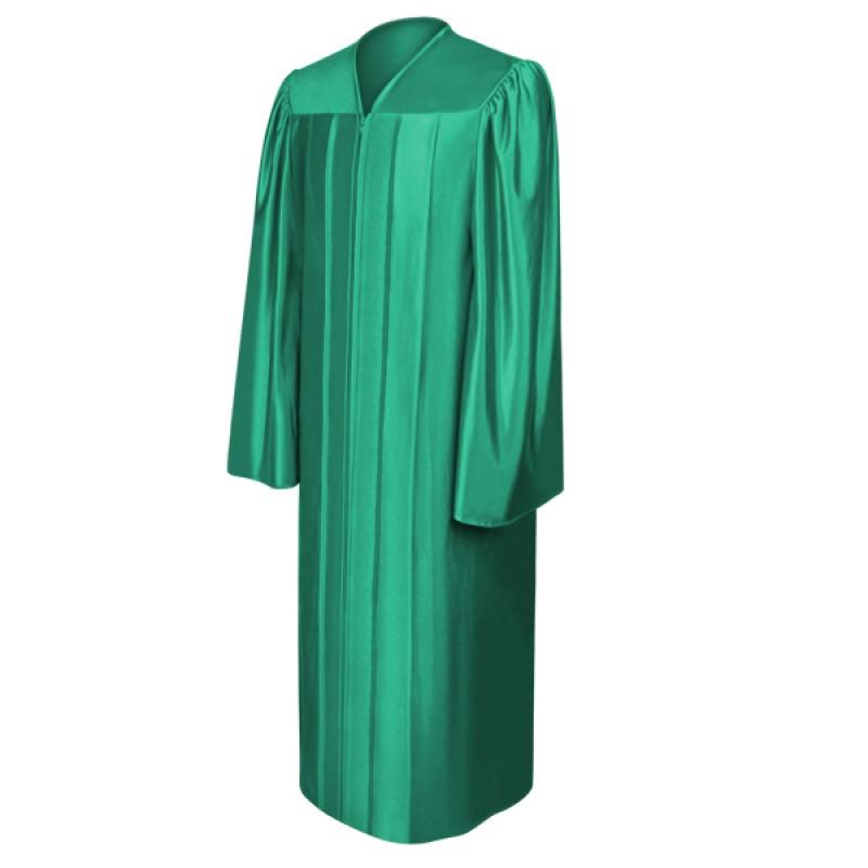 Shiny Emerald Green High School Gown Gradshop