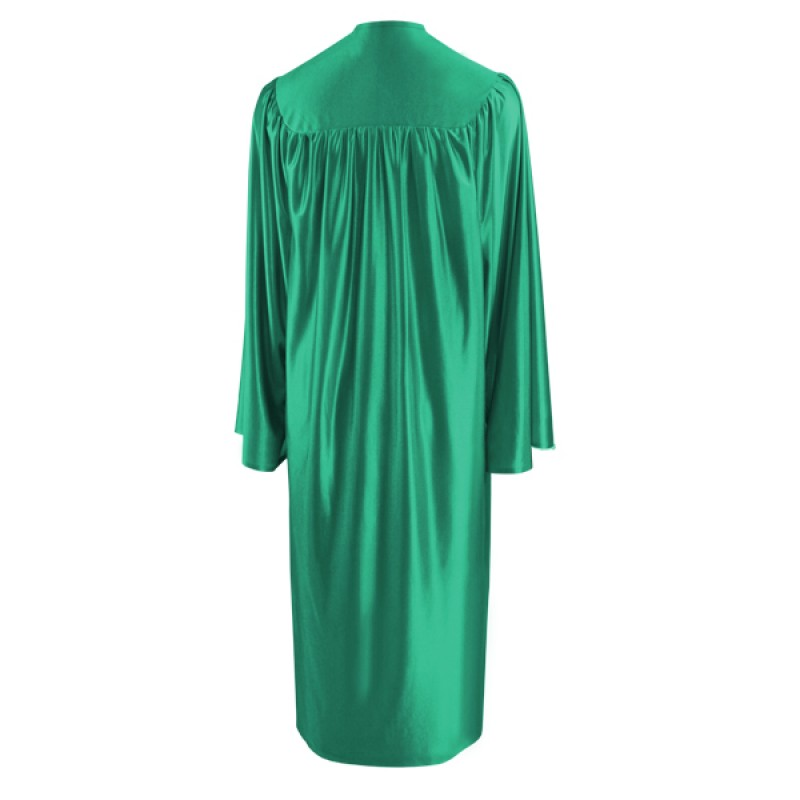 Shiny Emerald Green Elementary Gown | Gradshop