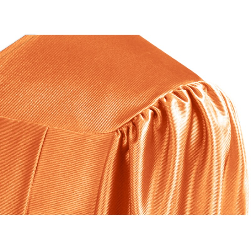 Shiny Orange Bachelor Academic Gown | Gradshop