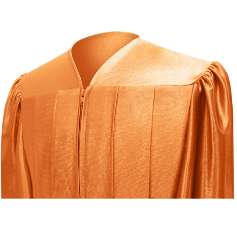 Shiny Orange High School Cap, Gown & Tassel | Gradshop