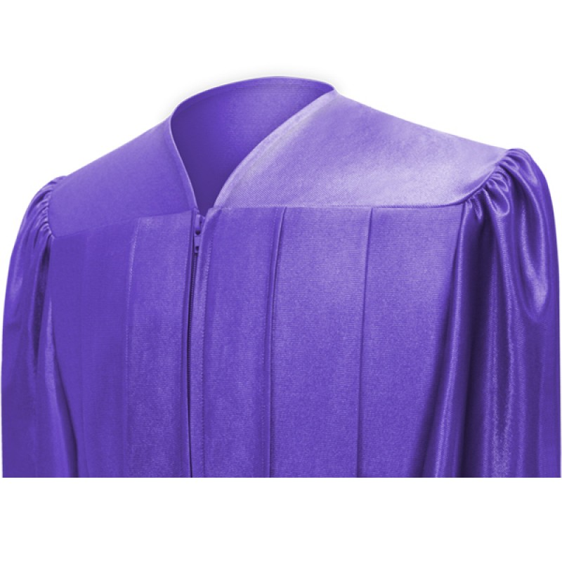 Shiny Purple Bachelor Cap, Gown & Tassel | Gradshop