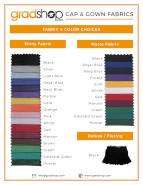 Cap & Gown Fabric