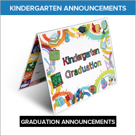 Kindergarten Announcements Enchanted Kingdom