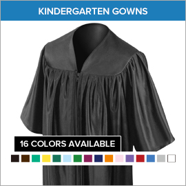 Kindergarten Gowns 1st Congregational Ch. Family Life Prog.