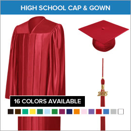 Graduation Caps, Gowns and Tassels Line Mountain High School