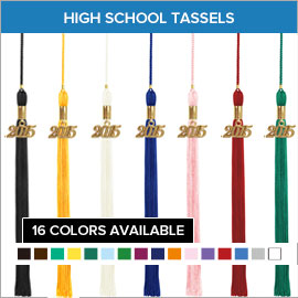 High School Graduation One Color Tassels Family Court Elem Sch